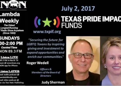 Knon 89.3, Lambda Weekly TPIF interview with Roger Wedell and Judy Sherman